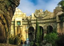 Orlando, USA - January 02, 2014: The themed attractions at Universal Studios Islands of Adventure theme park. Orlando, United States of America - January 02 Stock Images