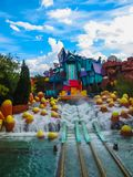 Orlando, USA - January 02, 2014: The themed attractions at Universal Studios Islands of Adventure theme park. Orlando, United States of America - January 02 Stock Image