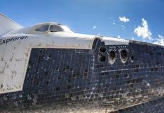 Der ursprüngliche Raumfähre Forscher OV100 an Kennedy-Raum Cente lizenzfreies stockfoto