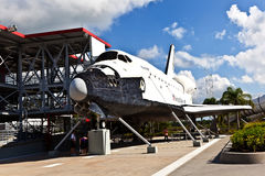 The original space shuttle Explorer  at Kennedy Space Center. ORLANDO, USA - JULY 25: The original space shuttle Explorer standing at Kennedy Space Center open Stock Image