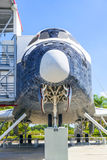 The original space shuttle Explorer at Kennedy Space Center. ORLANDO, USA - JULY 25: The original space shuttle Explorer standing at Kennedy Space Center open Stock Photo