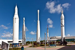 The Rocket Garden at Kennedy Space Center Royalty Free Stock Images