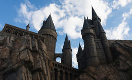 Orlando, USA - June 22, 2016 -The Wizarding World of Harry Potter - Castle - Universal Studios Florida Royalty Free Stock Photo