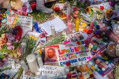 ORLANDO USA - MAJ 05, 2017: Ställe var Omar Mateen som dödas 49 personer och såras 53 andra i ett hat för terroristattack Arkivbilder