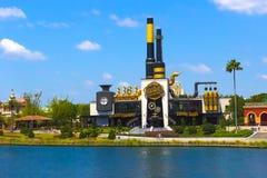 Orlando, USA - May 8, 2018: Charlie`s Chocolate Emporium in the Universal Orlando Resort. Adventure theme park Stock Images
