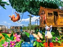 Orlando, USA - May 8, 2018: The large parade with performers at Universal Studio park on May 8, 2018. Universal Studios is one of Orlando famous theme parks Stock Image