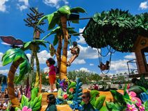 Orlando, USA - May 8, 2018: The large parade with performers at Universal Studio park on May 8, 2018. Stock Image