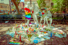 ORLANDO, USA - MAY 05, 2017: Place where Omar Mateen, killed 49 people and wounded 53 others in a terrorist attack hate. Crime in a gay nightclub in Orlando Stock Photo