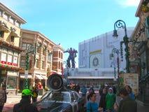 Orlando, usa - Styczeń 03, 2014: Gemowi pawilony w parku Universal Studio są jeden Orlando ` s sławni parki tematyczni Zdjęcie Stock