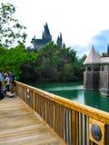 Orlando, usa - Styczeń 02, 2014: Harry Poter o temacie przyciągania przy Hogsmeade wioską wśrodku universal studio Obraz Royalty Free