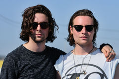 Orlando Weeks (left) and Hugo White (right), member of The Maccabees Royalty Free Stock Photos