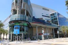 Orlandos hem för tecken för Amway mitt av Orlando Magic Royaltyfri Bild