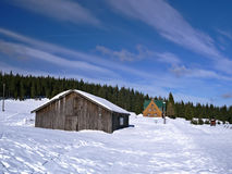 Orle, Jizera mountains, Poland. Orle - a hamlet in Jizera mountains near Czech-Polish border, Poland Royalty Free Stock Image