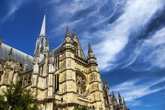 Orleans cathedral. The Orleans cathedral in France stock image