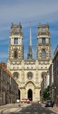 Orleans cathedral front Royalty Free Stock Photography