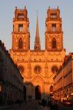 Orleans domkyrka i Frankrike Arkivbild