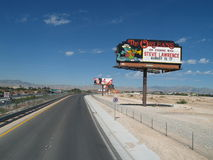 The Orleans, highway sign, Las Vegas. Stock Image