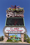 The Orleans Hotel Sign in Las Vegas, NV on June 14, 2013 Stock Photography