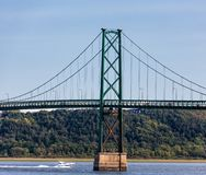 Orleans Island Bridge. The Orleans Island Bridge Over the Saint Lawrence River near Quebec City, Quebec, Canada stock photo