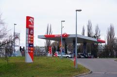 Orlen bensinstation fotografering för bildbyråer