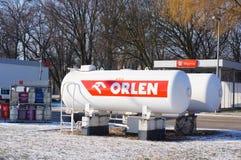 Orlen benzynowi zbiorniki Zdjęcie Royalty Free