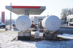 Orlen gas tanks Stock Photo