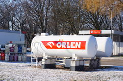 Orlen gas tanks Royalty Free Stock Photo