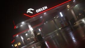 Orlen-Tankstelle Stockfotos