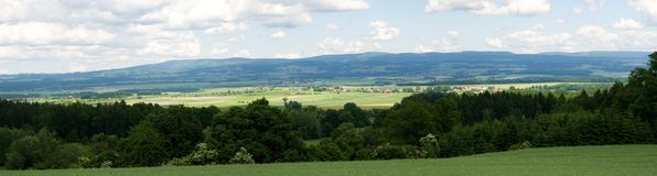 Orlicke hory, Czech republic. Orlicke mountains from vicinity Opocno in Eastern Bohemia, Czech republic Royalty Free Stock Image