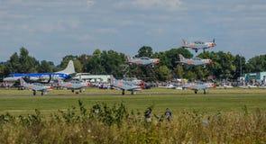 Orlik aerobatic display team stock photos