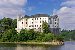 Orlik castle and dam, Czech republic Stock Photo