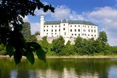 Orlik castle and dam, Czech republic Stock Photography