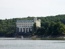 Orlik chateau. Located in the bay of the Vltava River (Czech Republic stock images