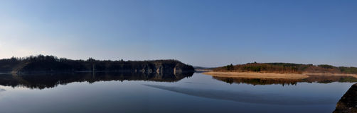 Orlik Reservoir Royalty Free Stock Photo
