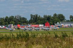 Orlika pokazu aerobatic drużyna Obraz Royalty Free