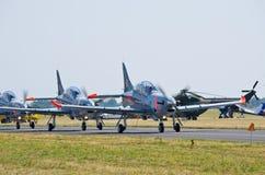 Orlikvorming op Radom Airshow, Polen stock fotografie