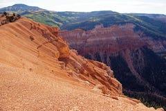 Orlo del canyon Immagine Stock