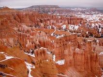 Orlo del canyon di Bryce in inverno Fotografia Stock Libera da Diritti