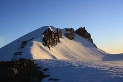 Orlo del cratere di Mt. Ruapehu Fotografia Stock