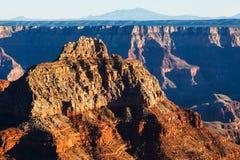 Orlo di Vishnu Temple Grand Canyon North Fotografia Stock