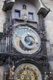 Orloj,历史中世纪天文学时钟,老城镇厅,布拉格,捷克 库存照片
