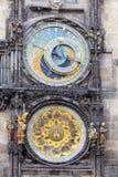 Orloj, ιστορικό μεσαιωνικό αστρονομικό ρολόι, παλαιό Δημαρχείο, Πράγα, Δημοκρατία της Τσεχίας Στοκ Εικόνες