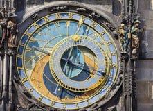 Orloj, ιστορικό μεσαιωνικό αστρονομικό ρολόι, παλαιό Δημαρχείο, Πράγα, Δημοκρατία της Τσεχίας Στοκ Φωτογραφίες
