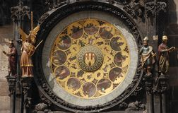 Orloj - astronomical calendar. Calendar Of Prague Astronomical Clock - Orloj Royalty Free Stock Photography