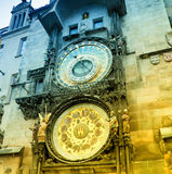 Orloj astronomical clock in Prague Stock Photo