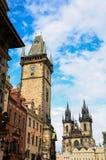 Orloj Basztowy Praga, Republika Czech Obraz Royalty Free