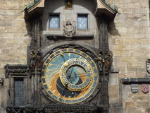 Orloj. Clock on the tower Prague, Europe Royalty Free Stock Images