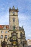 Orloj, Dziejowy średniowieczny astronomiczny zegar, Stary urząd miasta, Praga, republika czech obraz royalty free