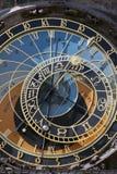 orloj prague астрономических часов Стоковая Фотография