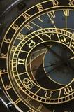 orloj prague астрономических часов Стоковое Изображение RF